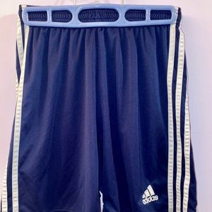 Blue running shorts
